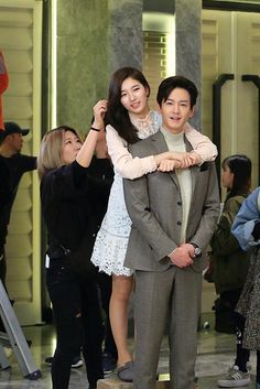 "KBS World releases ""Uncontrollably Fond"" behind the scenes photo set Asian Actors, Korean Actresses, Korean Actors, Actors & Actresses, Uncontrollably Fond Korean Drama, Suzy Drama, Lim Ju Hwan, Bride Of The Water God, Korean Tv Series"