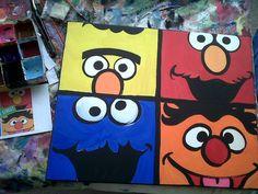 Pop Art Sesame Street - by Michelle Stuart