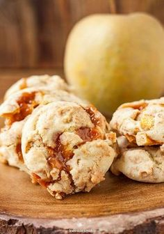 Ciasteczka z jabłkami i krówkami