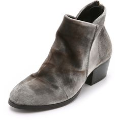 H by Hudson Apsi Velvet Booties ($240) ❤ liked on Polyvore featuring shoes, boots, ankle booties, grey, stacked heel booties, grey ankle booties, h by hudson, zipper boots and open back booties