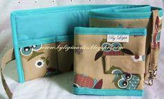 By Lígia Artes: Organizador de bolsa e porta absorvente
