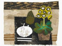 Mary Fedden, watercolour and collage, signed and dated sold for (inc premium), Bonhams, Nov 2006 London Art Floral, Oil Pastel Art, Tree Illustration, Illustrations, Art Database, Still Life Art, Naive Art, Painting Inspiration, Life Inspiration