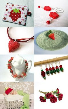 Strawberries and Green by Carolyn Ford on Etsy--Pinned with TreasuryPin.com