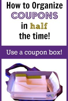 Save time clipping and organizing your coupons with a coupon box!