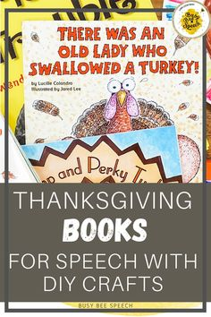 Here are my very favorite Thanksgiving books for speech therapy with some pretty spectacular craft ideas to go along with them. Check out the list and see if any of them will work for the students on your caseload.