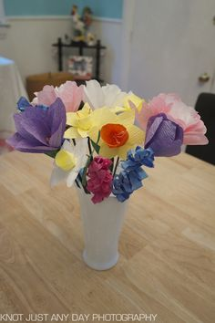 spring bouquet of handmade flowers | Regular Frills