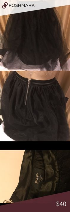 Nasty Gal XXS tulle skirt black long Good used condition no snags or tears Nasty Gal Skirts