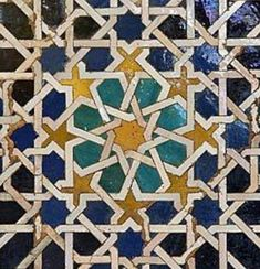 The Alhambra continues to be an inexhaustible source of inspiration for me, with its tiles have begun to paint series of paintings both on canvas and are súperdecorativos table. Islamic Art Pattern, Arabic Pattern, Geometry Pattern, Pattern Art, Islamic Tiles, Islamic Decor, Islamic Wall Art, Geometric Drawing, Geometric Art
