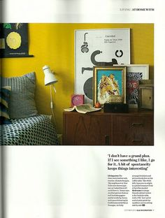 yellow walls!