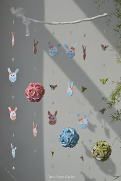 paper mobile - easter bunnies