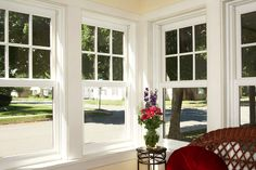 Double Hung Windows with French Top...All the way around!