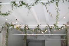 beautiful garlands + lights