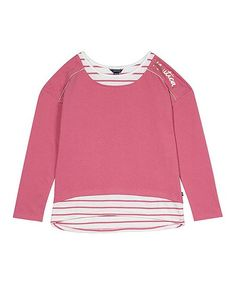 07f65618d98 Nautica Rose Stripe-Accent Layered Top - Toddler   Girls