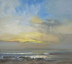 David Atkins Sunset, Clevdon Oil on Board 41 x 41 cm