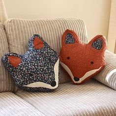 Vintage Inspired Fox Cushion