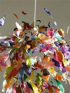 Stunning tissue paper mobile.