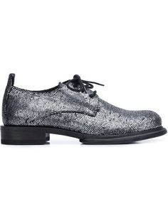 ANN DEMEULEMEESTER Scale Effect Lace-Up Shoes. #anndemeulemeester #shoes #flats