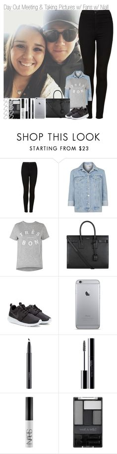 """Day Out Meeting and Taking Pictures with Fans and Niall"" by elise-22 ❤ liked on Polyvore featuring Topshop, Whistles, Yves Saint Laurent, NIKE, MAC Cosmetics, shu uemura, NARS Cosmetics, Wet n Wild and ASOS"
