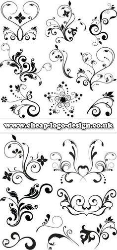 I like the star swirl as an idea Stencil Patterns, Embroidery Patterns, Doodles, Motif Floral, Scroll Design, Doodle Art, Swirls, Line Art, Design Elements