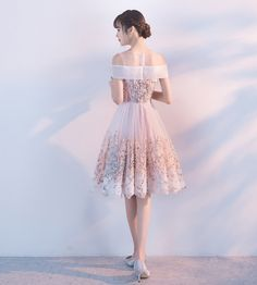 Short Homecoming Dress, Tulle Homecoming Dress, Knee-Length Homecoming Dress, Applique Junior School Dress, Beautiful Homecoming Dress, 17372 · LuckyBridal · Online Store Powered by Storenvy
