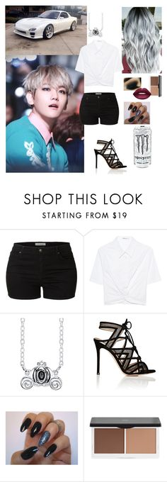 """Car meet with Baekhyun (EXO)"" by mimiisabooknerd ❤ liked on Polyvore featuring LE3NO, T By Alexander Wang, Disney, Gianvito Rossi, Lily Lolo and Lime Crime"
