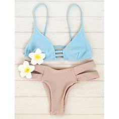 8adce74e7dd67  11.82 Stylish Bicolor Double Strap Women s Bikini Set Bikini Sets