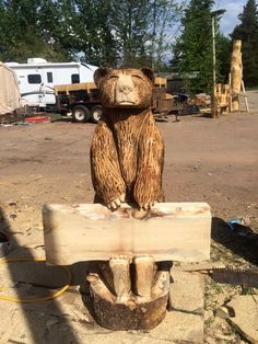 Beneath The Bark Chainsaw Carvings | Wood + Chainsaw = Art ... Kettensaegenkunst Holz Carving Motorsaege