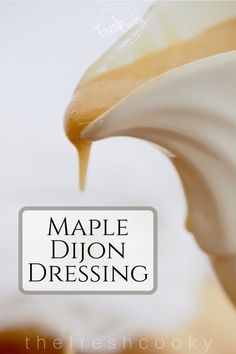 An easy, delicious, creamy (non-dairy) salad dressing, this maple dijon vinaigrette is loaded with bright and lively flavors. Vinaigrette Salad Dressing, Dressing Recipe, Salad Dressings, Free Recipes, Vegan Recipes, Easter Side Dishes, Vegetarian Curry, Vegan Keto, Recipe Recipe