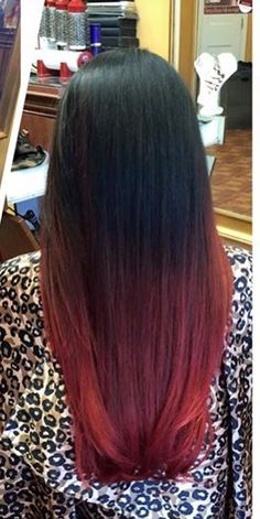 Black and red ombre hair ! Love love love