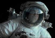 george clooney in trailer of gravity.