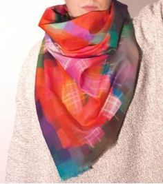 Scarf by Annette Fauvel, German designer. Very special gift for Valentine's Day!
