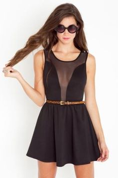 Little black dress. I could totally rock this, being without boobs and whatnot.