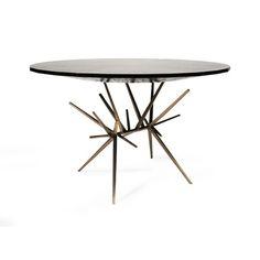 Jax center table by Hamel + Farrell for Jean de Merry Furniture Styles, Fine Furniture, Dining Furniture, Contemporary Furniture, Furniture Design, Jax, Bronze, Center Table, Elle Decor