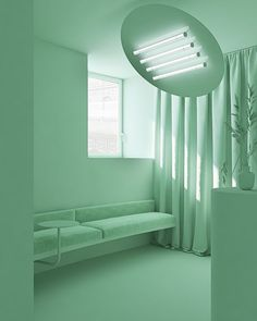 This image is an example of color harmony. I believe this space uses a monochromatic color harmony. Everything in this space is exactly the same color of mint green. Therefore, the room is monochromatic. Mint Green Aesthetic, Aesthetic Colors, Architecture Life, Interior Architecture, Monochromatic Color Scheme, Color Harmony, Colour Pallete, Green Rooms, Interiores Design