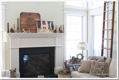 mantle decorating ideas mirror - Google Search