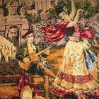 Kaunis ISO vanha gobeliini -- Espanjalainen tanssijatar Iso, Painting, Painting Art, Paintings, Drawings