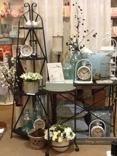 Lifestyle shot with metal corner stand shelf and console $199.95 and $299.95 respectively Garden Rack, Shop Ideas, Console, Shelf, Corner, Lifestyle, Metal, Furniture, Home Decor