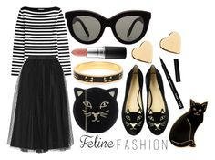 """feline fashion // contest entry"" by dnnttr ❤ liked on Polyvore featuring Michael Kors, Calourette, Charlotte Olympia, RED Valentino, Victoria Beckham, Bobbi Brown Cosmetics, MAC Cosmetics, Kate Spade and Lipsy"