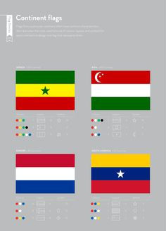 Continent flags