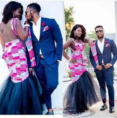 Exquisite Ankara Styles for young couples. African Wedding Dress, African Print Dresses, African Wear, African Attire, African Fashion Dresses, African Dress, African Weddings, African Clothes, Ankara Fashion