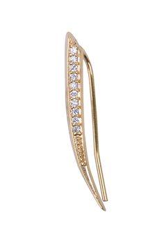 Amazon.com: Simply Love 'Gold Circle Line With Zircons' Climbing Earing Studs 12k-14k Micron Goldfield Climber Ear (one piece) (Gold Circle Line With Zircons): Jewelry