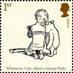 Literary Stamps: Milne, A A (1882–1956)