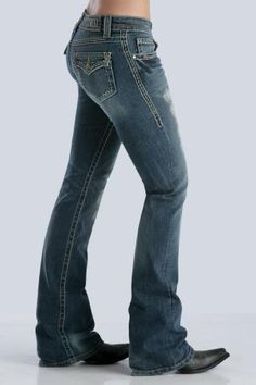 Us Cowgirl Sisters do love our blue jeans. Women's Indigo Cruel Girl Stella Western Wear