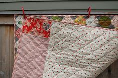 The back of a Snowball quilt.