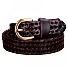 Cheap braided belt women, Buy Quality genuine leather belt women directly from China genuine leather belt Suppliers: 2017 Genuine leather belt Woman Braided belts Women Cow second layer skin strap thin girdle Luxury for female jeans width Braided Leather Belt, Leather Buckle, Cow Leather, Real Leather, Fashion Belts, Belts For Women, Natural Leather, Braid Styles, Women Accessories