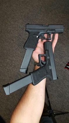 RAE Magazine Speedloaders will save you! Glock Guns, Weapons Guns, Guns And Ammo, Glock 9mm, Zombie Weapons, Shooting Guns, Military Guns, Tactical Gear, Tactical Survival