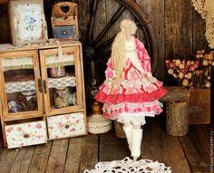Купить Розмари интерьерная текстильная коллекционная кукла тильда ангел - ярко-красный, тильды, тильда