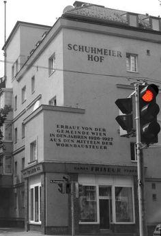 Vienna Schuhmeier Hof 1926-27 Austria, Broadway Shows, City, Red, Vienna, Communities Unit, Snow, Cities