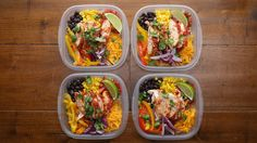 WEEKDAY MEAL-PREP CHICKEN BURRITO BOWLS Serves 4-6 INGREDIENTS 2-3 boneless…