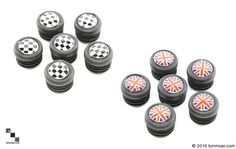 Available In Union Jack And Checkered Flag For Doors With Exposed Screws; 3 Per Side. -  - MINI Interior Door Panel Screw Caps  - Photo #3